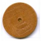 kralen 18mm bruin rond schijf hout kleurnummer 6033