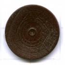 kralen 18mm bruin rond schijf hout kleurnummer 6034