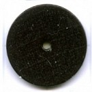 kralen 18mm zwart rond schijf hout kleurnummer 6047