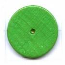kralen 18mm groen rond schijf hout