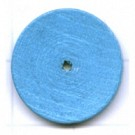 kralen 18mm blauw rond schijf hout kleurnummer 6654