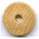kralen 18mm naturel rond schijf 2 hout