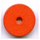 kralen 18mm oranje rond schijf 2 hout