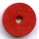 kralen 18mm rood rond schijf 2 hout