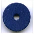 kralen 18mm blauw rond schijf hout kleurnummer 6030