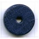 kralen 18mm blauw rond schijf 2 hout kleurnummer 6032