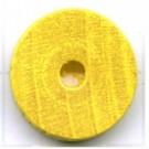 kralen 18mm geel rond schijf 2 hout