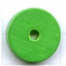 kralen 18mm groen rond schijf 2 hout