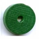 kralen 18mm groen rond schijf 2 hout kleurnummer 6094