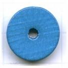 kralen 18mm blauw rond schijf 2 hout