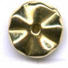 schijven 8mm goud rond kunststof