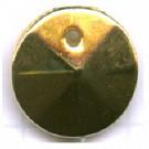 schijven 12mm goud rond kunststof