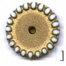 schijven 14mm goud rond kunststof