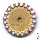 schijven 14mm goud rond kunststof kleurnummer 2