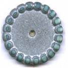 schijven 18mm zilver rond kunststof