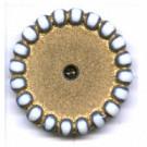schijven 18mm goud rond kunststof kleurnummer 5
