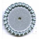 schijven 22mm zilver rond kunststof