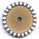 schijven 22mm goud rond kunststof kleurnummer 5