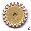 schijven 18mm goud rond kunststof kleurnummer 2