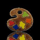 keramiek kralen 22mm bruin speciale vorm