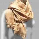 Sjaal dames heren zacht pashmina viscose zijde beige