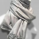 Sjaal dames heren zacht pashmina viscose zijde grijs