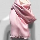 Sjaal dames heren zacht pashmina viscose zijde roze