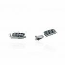 Sluiting voor sieraden met schuif klik systeem verzilverd  oudzilver