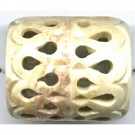 soap stone kralen 35mm bruin cilinder kleurnummer