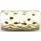 soap stone kralen 49mm naturel cilinder