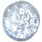 staafjes kralen 15mm wit staafje glas