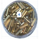 staafjes kralen 15mm bruin staafje glas