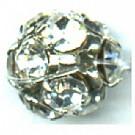 strasskralen 10mm kristal rond metaal kleurnummer 0004