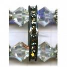 strassrondellen 22mm oudzilver driehoek kleurnummer 4001