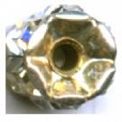 strassrondellen 10mm zilver rond