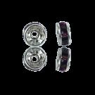 strassrondellen 6mm paars rond