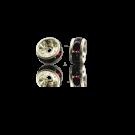 strassrondellen 4mm donkerrood rond