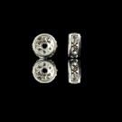 strassrondellen 4mm zilver rond