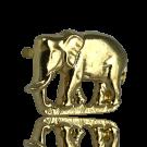 stud 16mm goud olifant