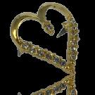 stud 25mm goud hart