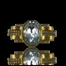 metalen stud met grote strass steen kristal 49mm goud