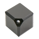 Swarovski kralen 8mm zwart blokje