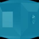 Swarovski kralen 4mm turquoise blokje