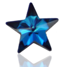 stenen 10mm blauw ster kleurnummer 3410