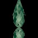 Swarovski Briolette Pendant 6010 13MM Palace Green opal