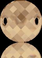 Swarovski 28mm bruin rond kristal