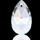 Swarovski pear shaped pendant 22mm Crystal AB