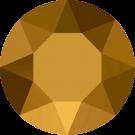 Swarovski Roundstones 1088 8MM CHATON Crystal Dorado 001 DOR