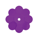 Swarovski Margarita Flower 3700 10MM Amethyst 204