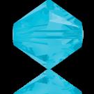 Swarovski Beads 5328 4mm XILION Bicone Caribbean Blue Opal
